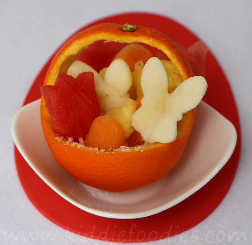 Fruit basket dessert for kids