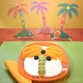 Palm tree dessert for kids