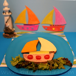 Boat sandwich for kids