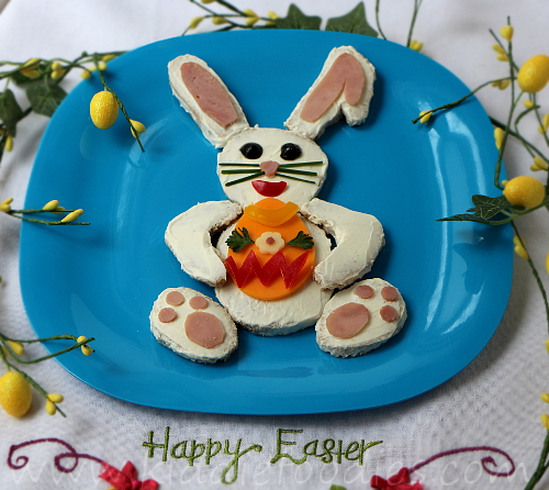 Easter bunny sandwich for kids