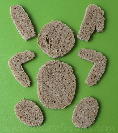 Easter bunny sandwich for kids step1