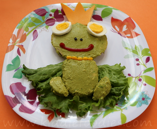 Frog sandwich for kids