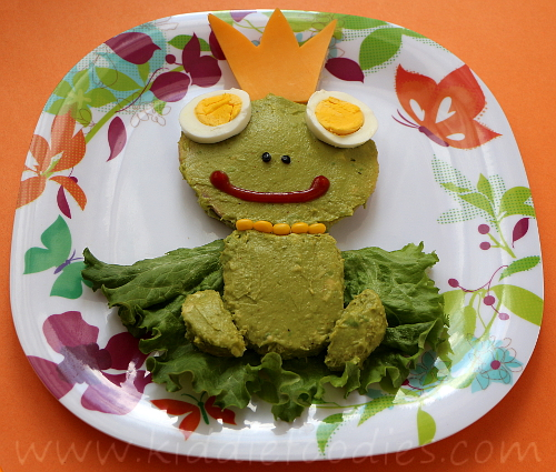 Frog sandwich for kids step3