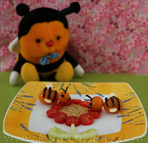 Bees on the flower snack for kids