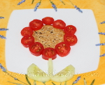 Bees on the flower snack for kids step2