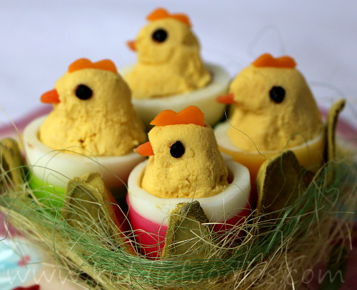 Easter chicks snack for kids step3