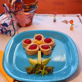 Tortilla flower snack for kids