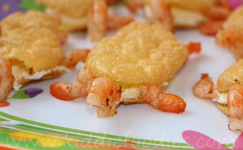 Shrimps turtles snack for kids step4