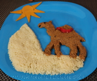 Camel in the desert - healthy recipe with veggies