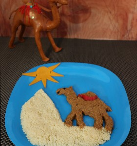 Camel in a dessert healthy recipe with veggies