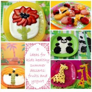 5 Fruit recipes with yogurt