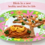 Birds in a nest – healthy meal for kids