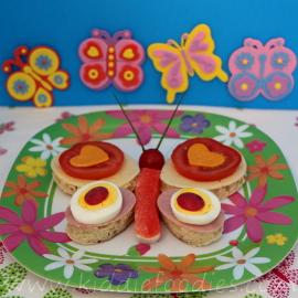 Butterfly sandwich