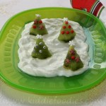 Christmas trees dessert – kiwi with yogurt