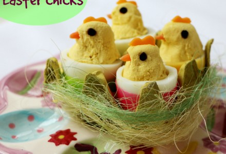 Easter chicks snack for kids