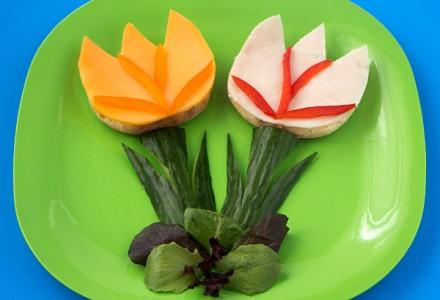 Sandwich tulips