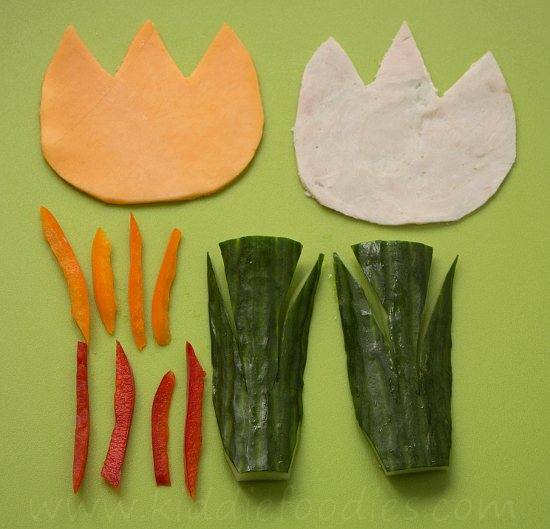 Sandwich tulips step2
