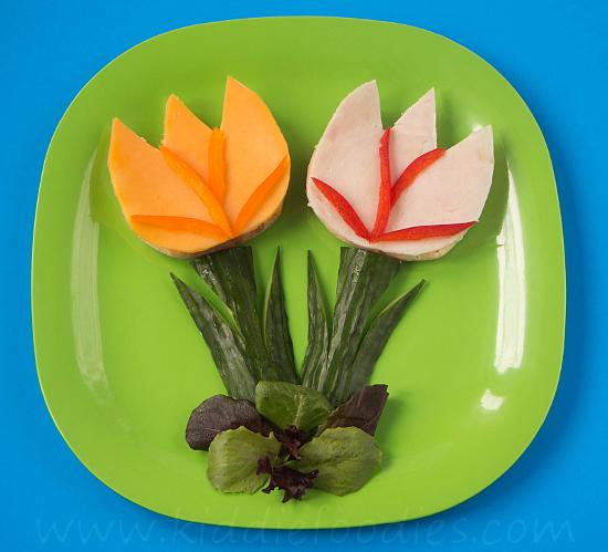 Sandwich tulips step3
