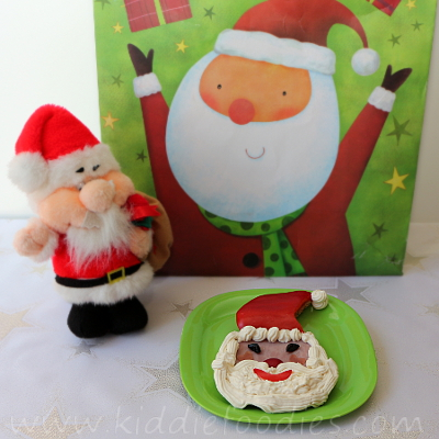 Santa Claus ham and cheese sandwich for kids