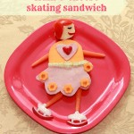 Skating kiddie ham and cheese sandwich for kids #sandwich, #lunchforkids, #skating