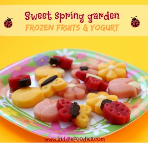 Sweet spring garden - frozen fruits and yogurt