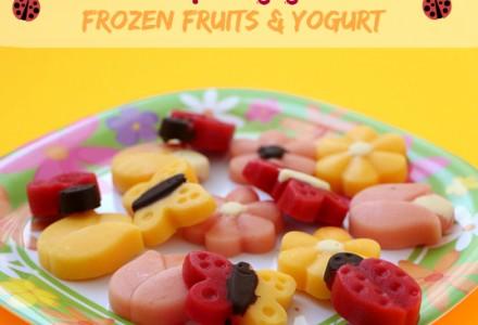 Sweet spring garden - frozen fruits and yogurt