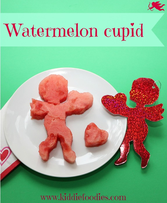 Watermelon cupid, cute St Valentine dessert idea #cupid, #valentinesideas, #dessert, #watermelon
