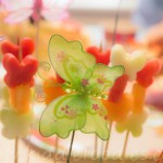 Butterflies – healthy dessert with fresh fruits on a stick
