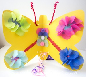 How to make paper butterfly wings for kids
