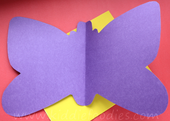 How to make paper butterfly wings for kids step1a