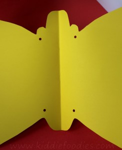 How to make paper butterfly wings for kids step2
