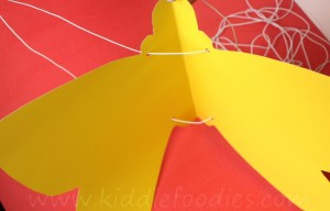 How to make paper butterfly wings for kids step3
