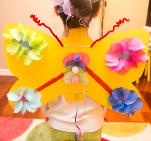 How to make paper butterfly wings for kids step6