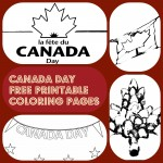 4 Canada Day free printable coloring pages