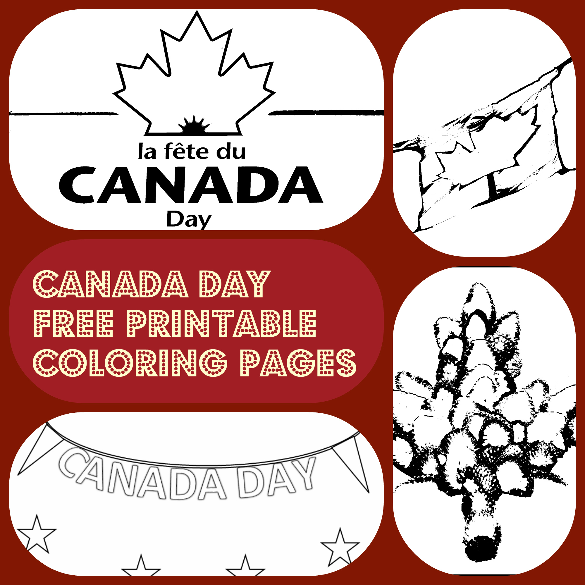 4 Canada Day free printable coloring pages - Kiddie Foodies