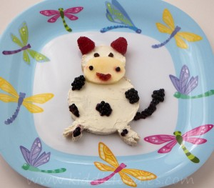 Laughing Milka edible cow sandwich for kids