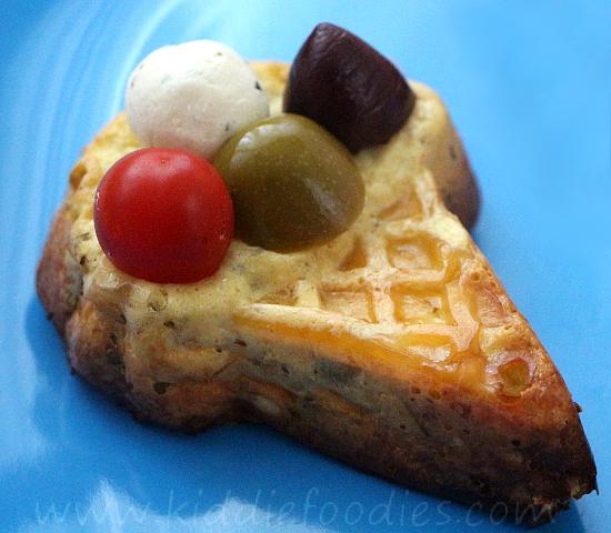 Summer crustless mini quiche - ice cream