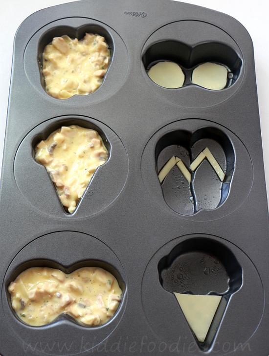 Summer crustless mini quiche step2