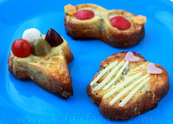 Summer crustless mini quiche