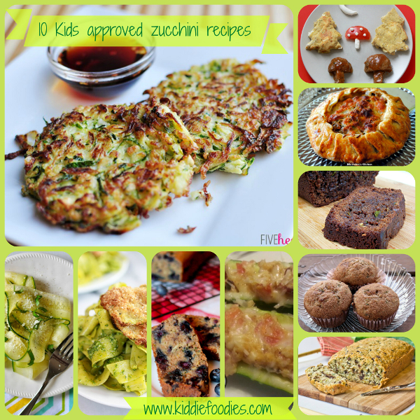 10 kids approved great zucchini recipes