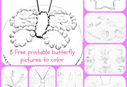 8 free printable butterfly pictures to color