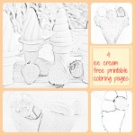 4 ice cream coloring pages free printable