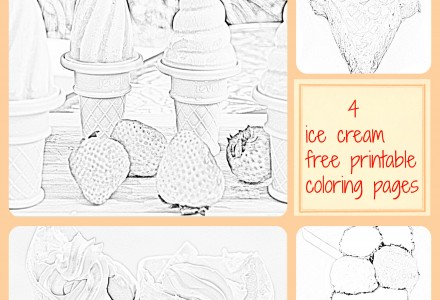 Ice cream coloring page free printable
