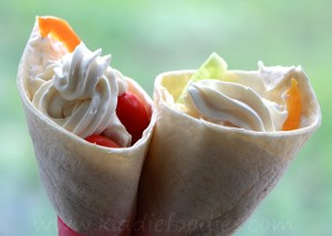 Ice cream tortilla wraps