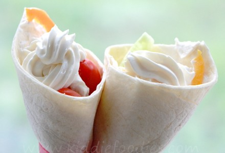 Ice cream tortilla wraps main