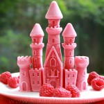 Princess castle – frozen raspberries and yogurt