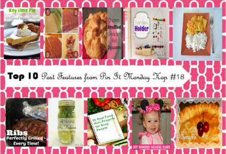 TOP 10 Project Features from Pin It MOnday Hop#18