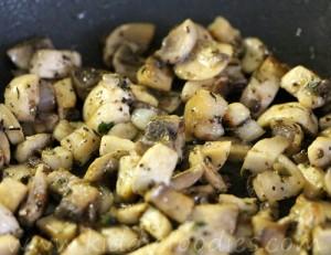 Zebra - homemade gnocchi with mushrooms and ricotta step1