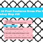 Top 10 Post Features from Pin It Monday Hop#19
