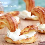 Swans – puff pastry with ricotta